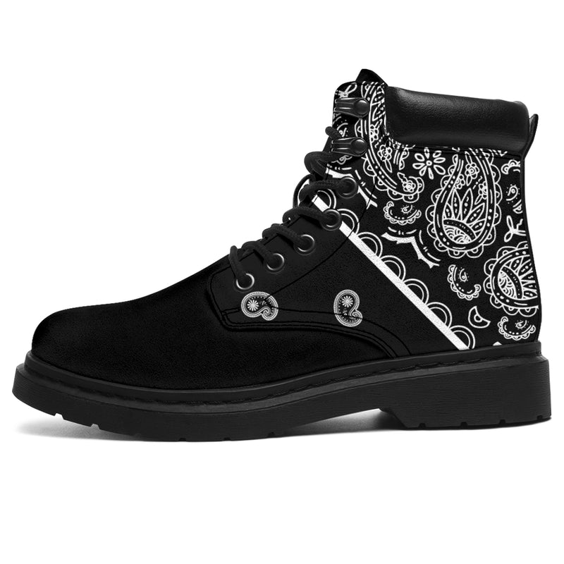 men's black bandana boots