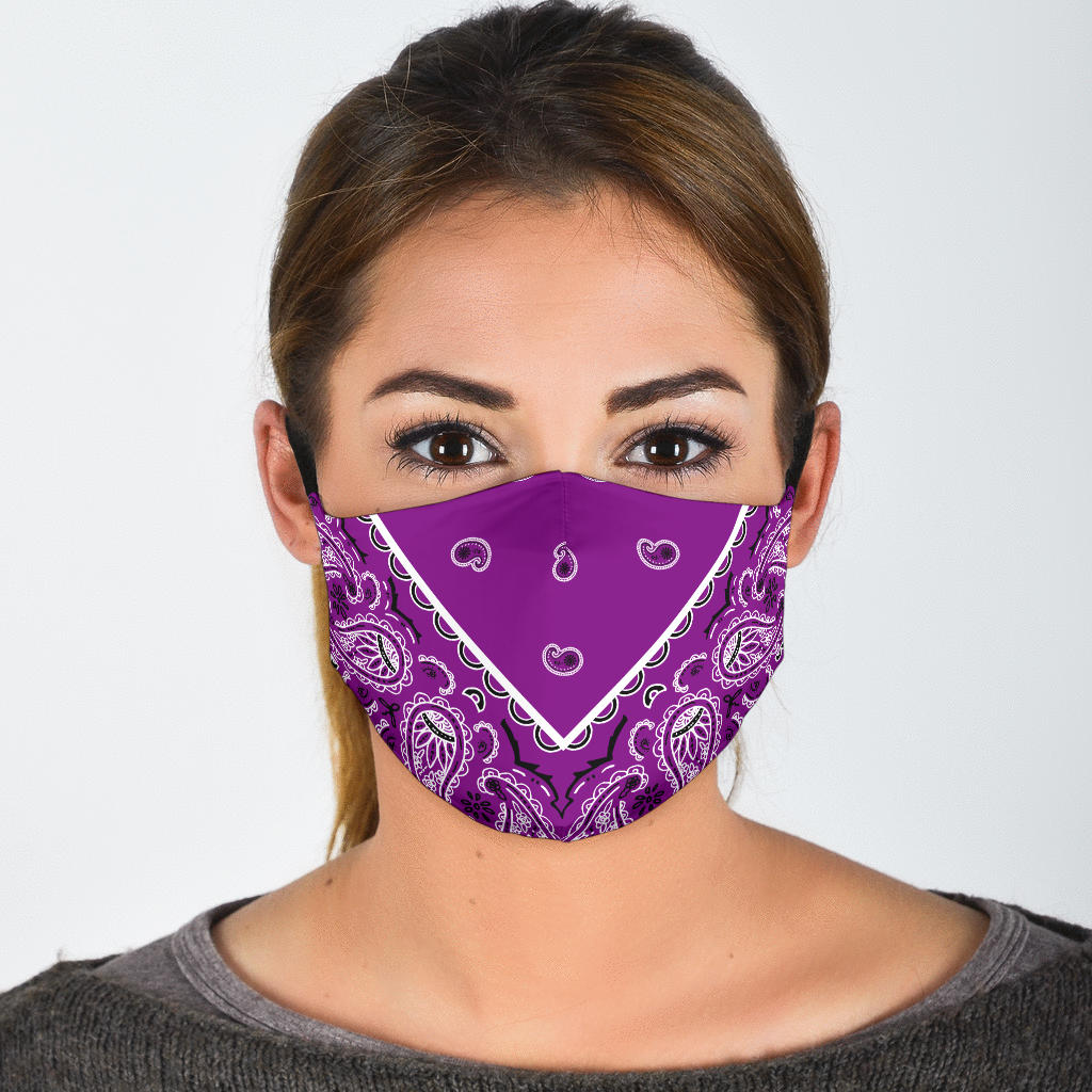 plum purple bandana covid mask