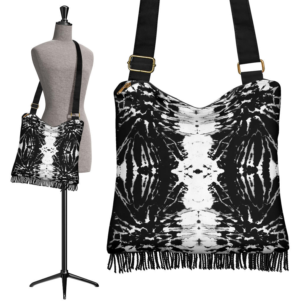Black Tie Dye Bandana Messenger Bag