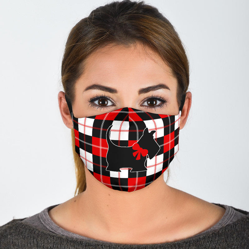 fun Scottish terrier covid mask
