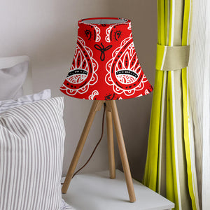 Red Paisley Bell Lampshade