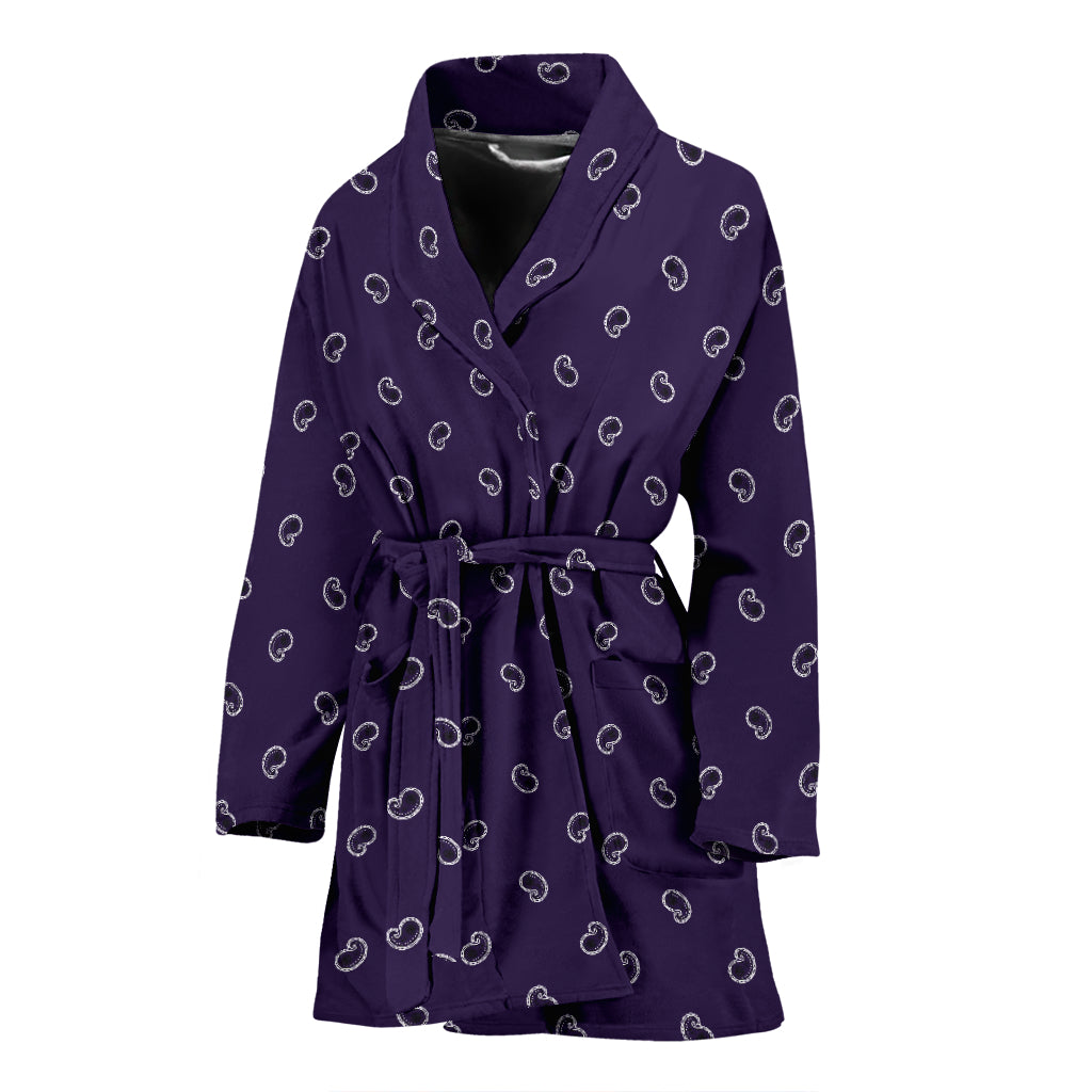 purple bandana paisley robe