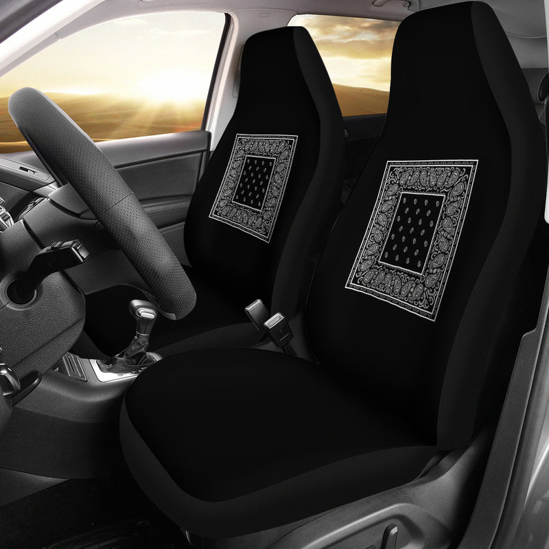 black patch work car seat cover