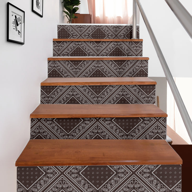 brown bandana stairway stickers