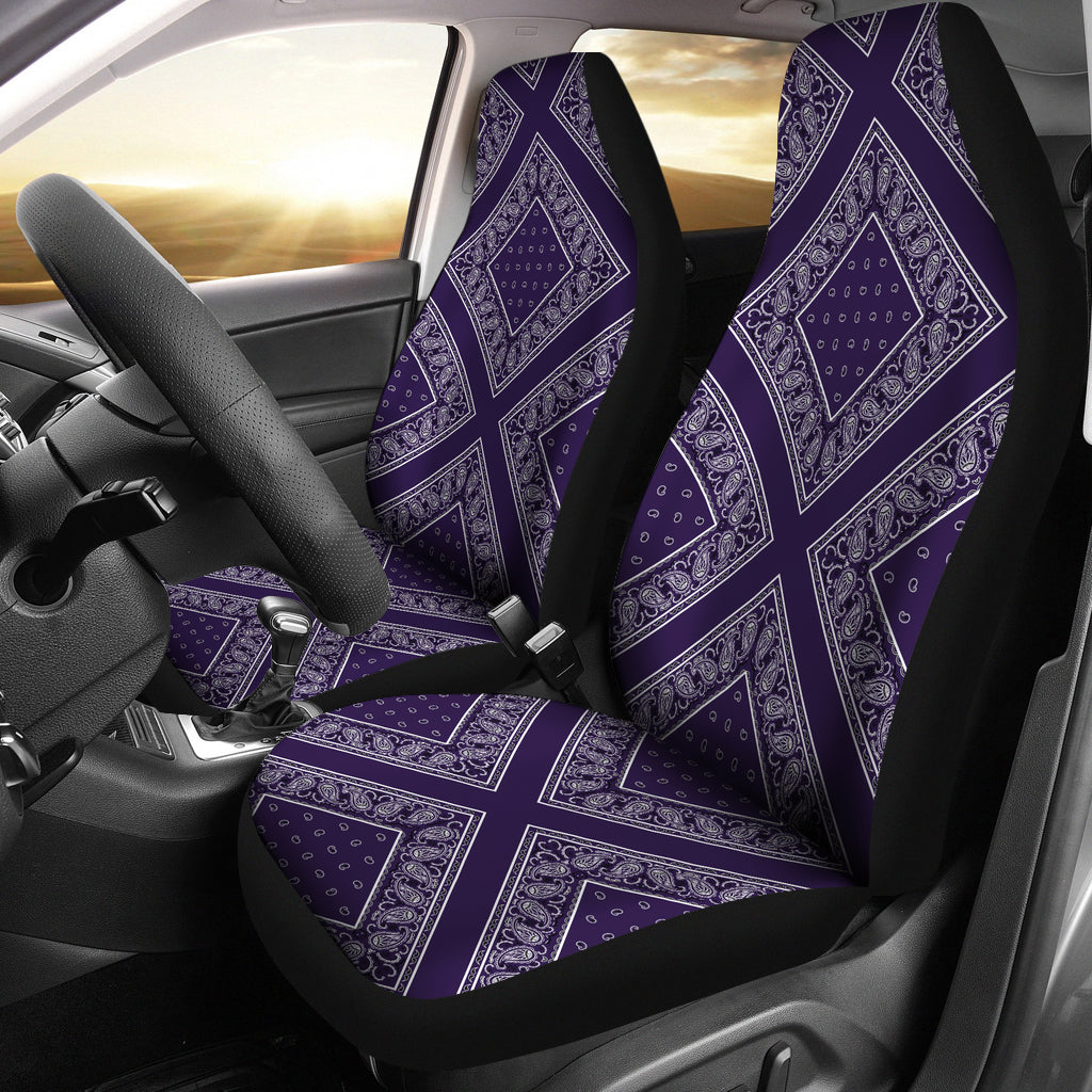 purple car seat covers