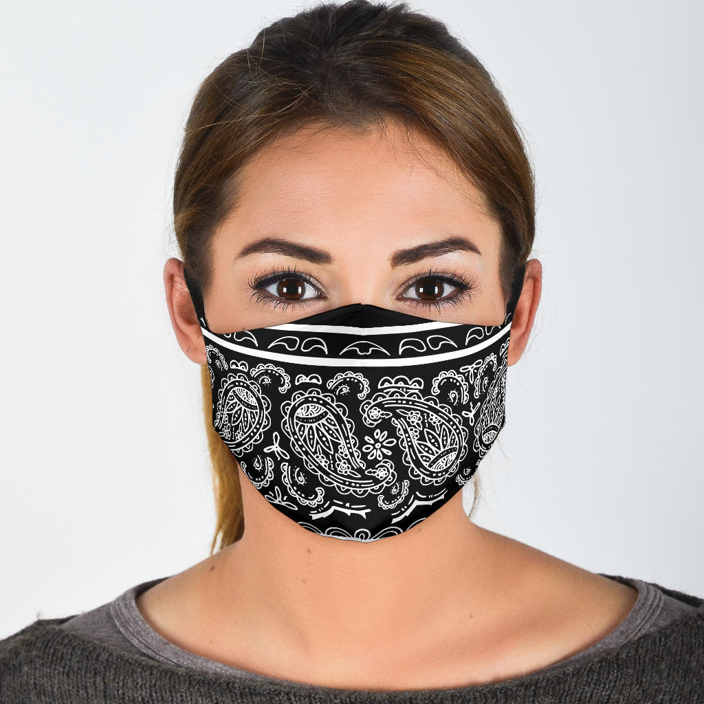 Edge Black Bandana Face Mask