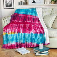 Hippie Tie Dye Fleece Throw