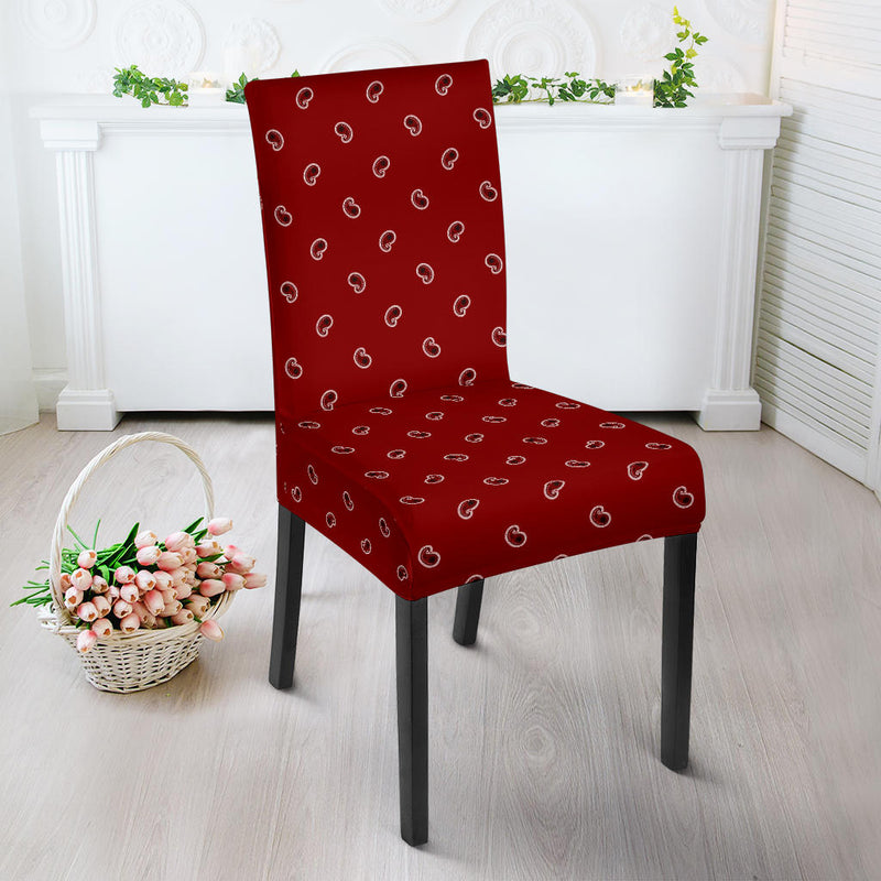 Maroon Red Bandana Chair Cover