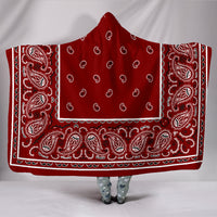Maroon Bandana Hooded Blanket