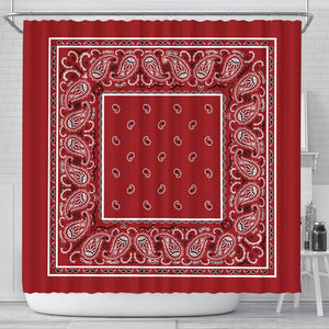 Red Bandana Shower Curtain