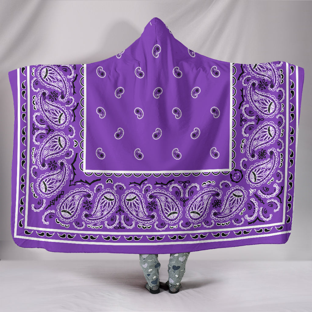Ultimate Lilac Bandana Hooded Blanket