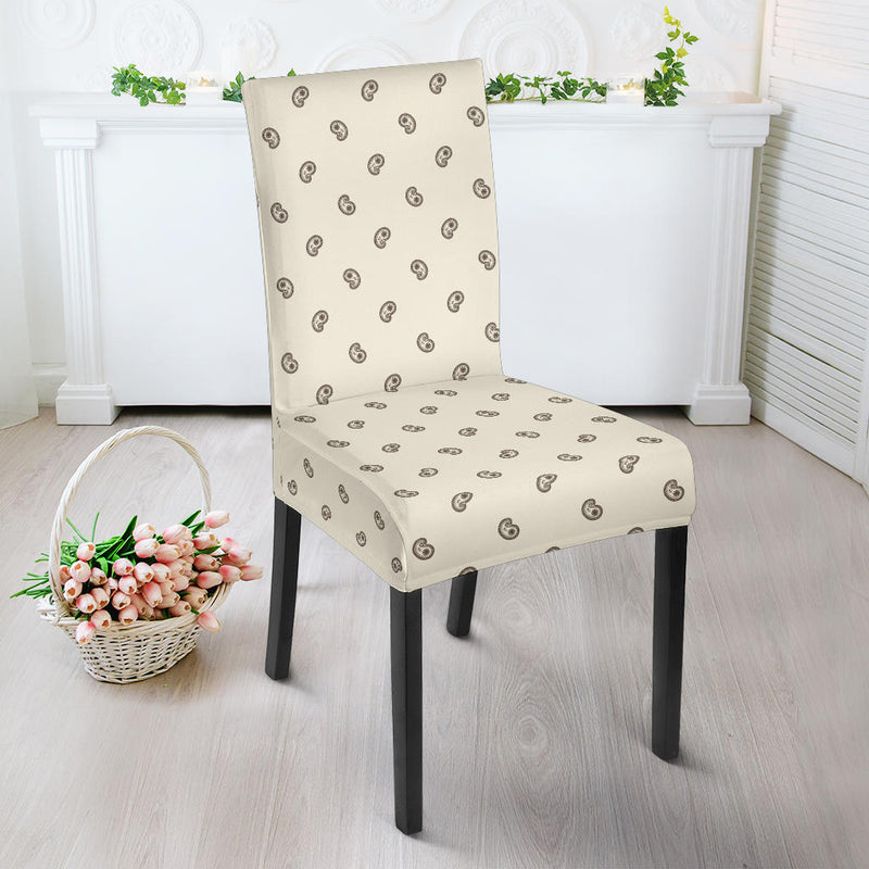 Cream and Brown Bandana Dining Chair Covers