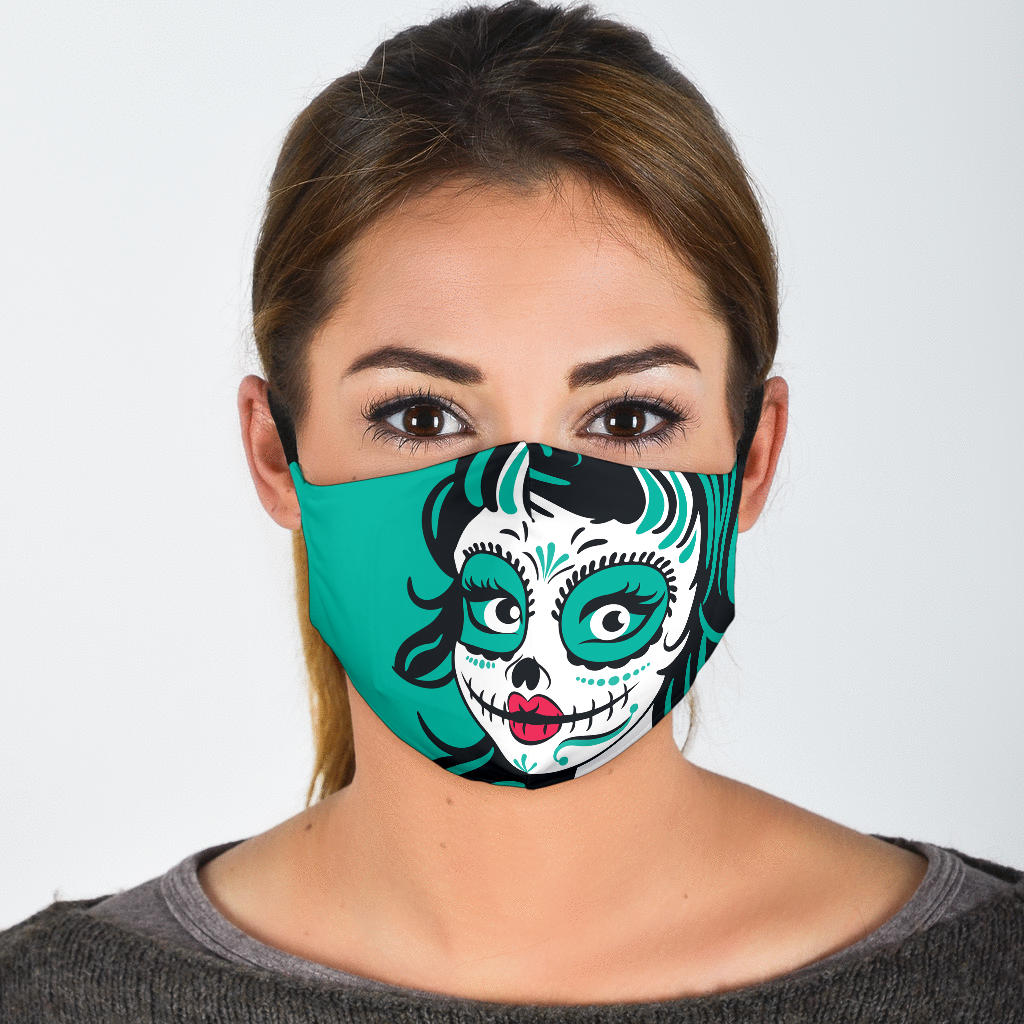 calavera art face mask