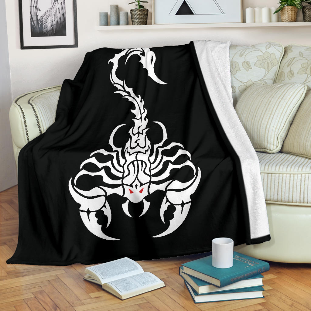 Scorpion Tribal Fleece Throw Blanket