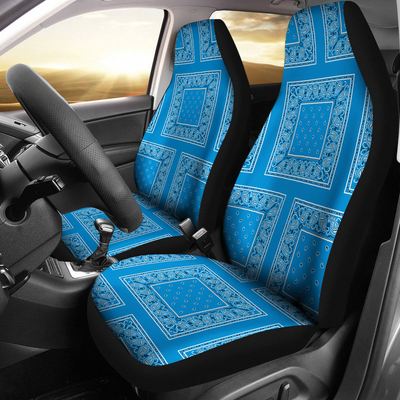 blue car seat cover