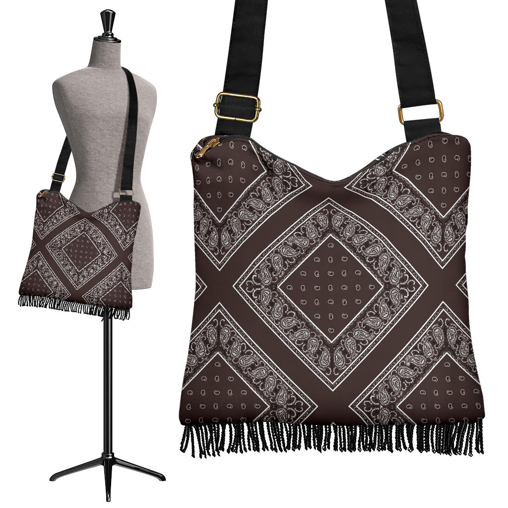 Coffee Brown Bandana Bohemian Bag