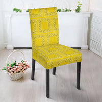 Yellow Bandana Kitchen Chair Slipcovers