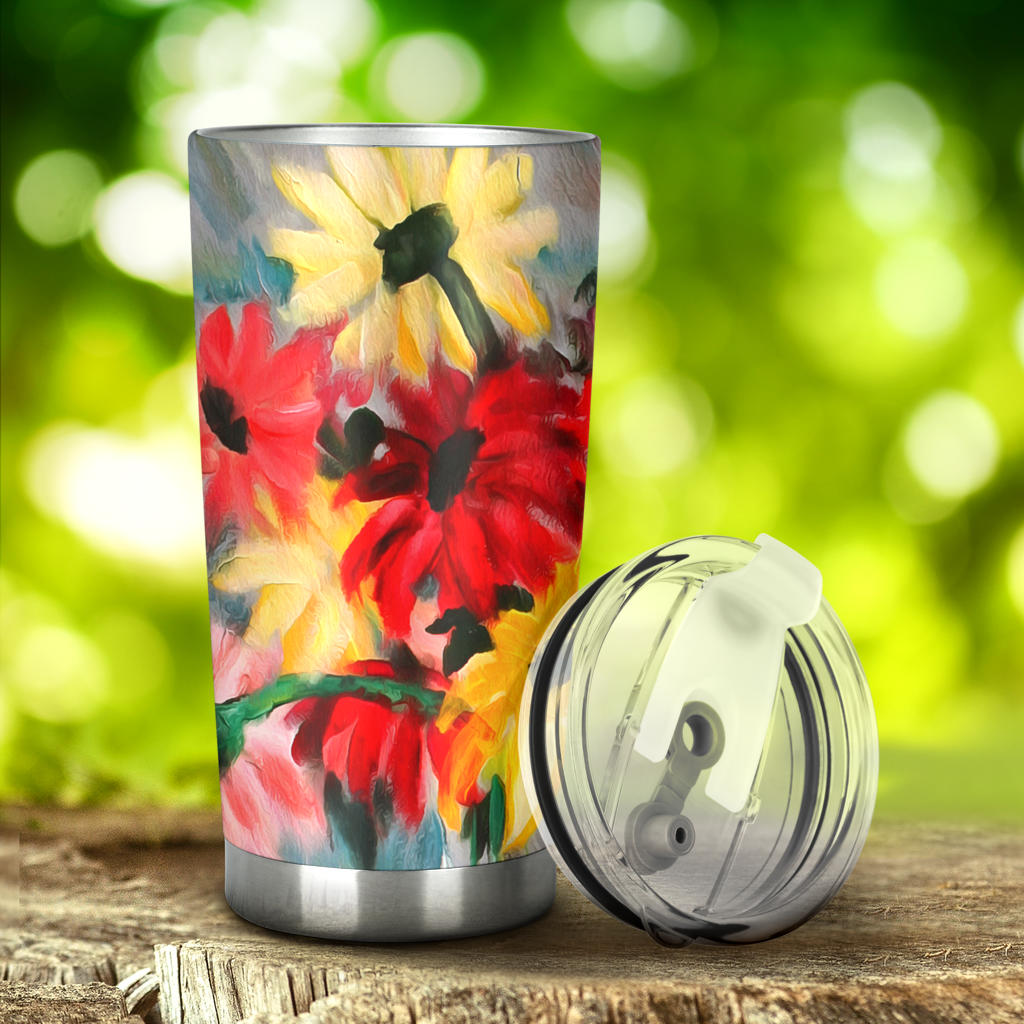 creative art tumbler cups