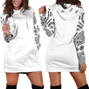 White Bandana Hoodie Dress