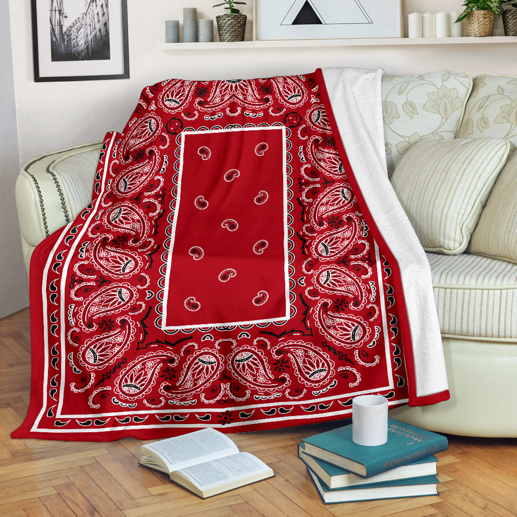 Red Bandana Fleece Blanket