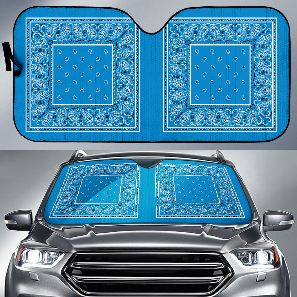 sky blue car window shades