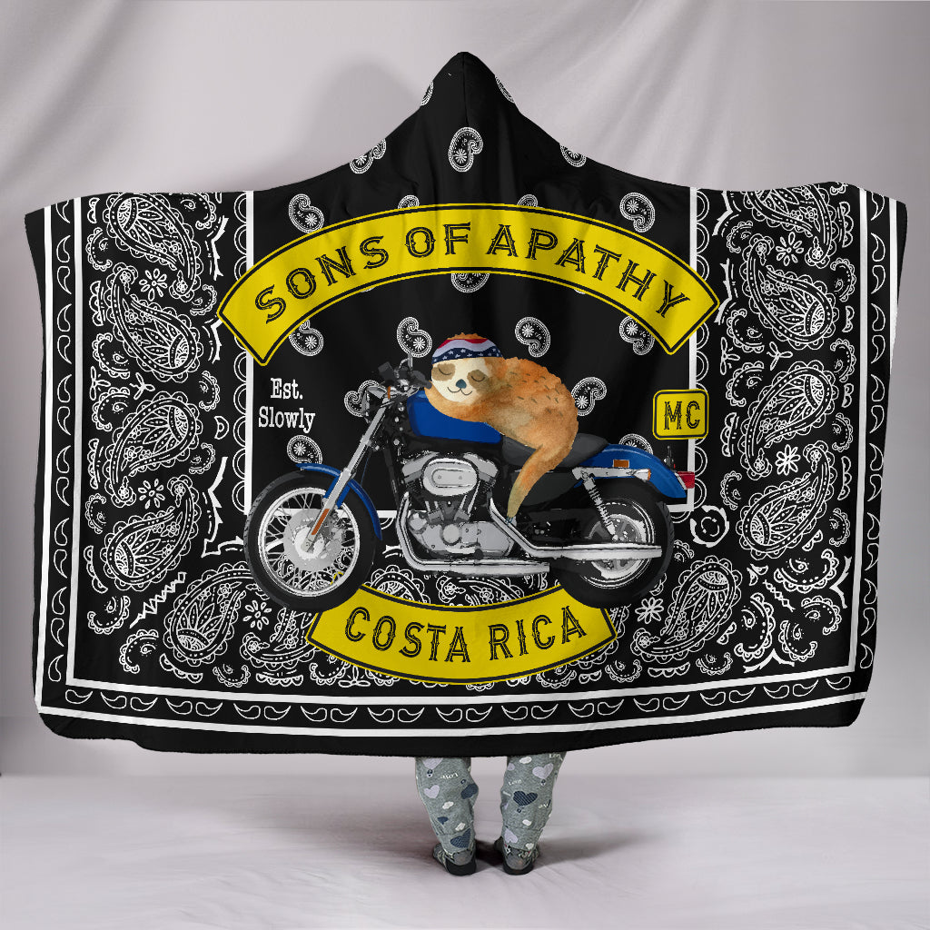 Biker Sons of Apathy Hooded Blanket