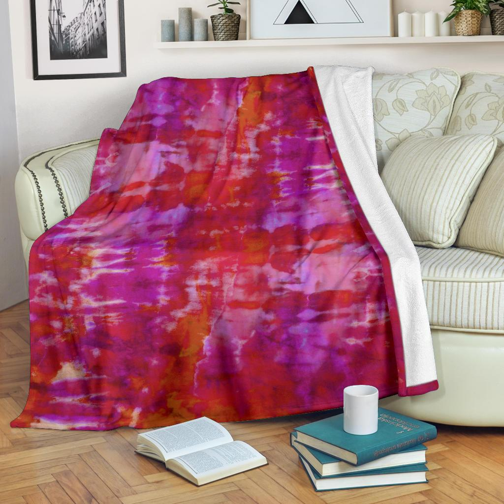 Abstract Tie Dye Fleece Throws