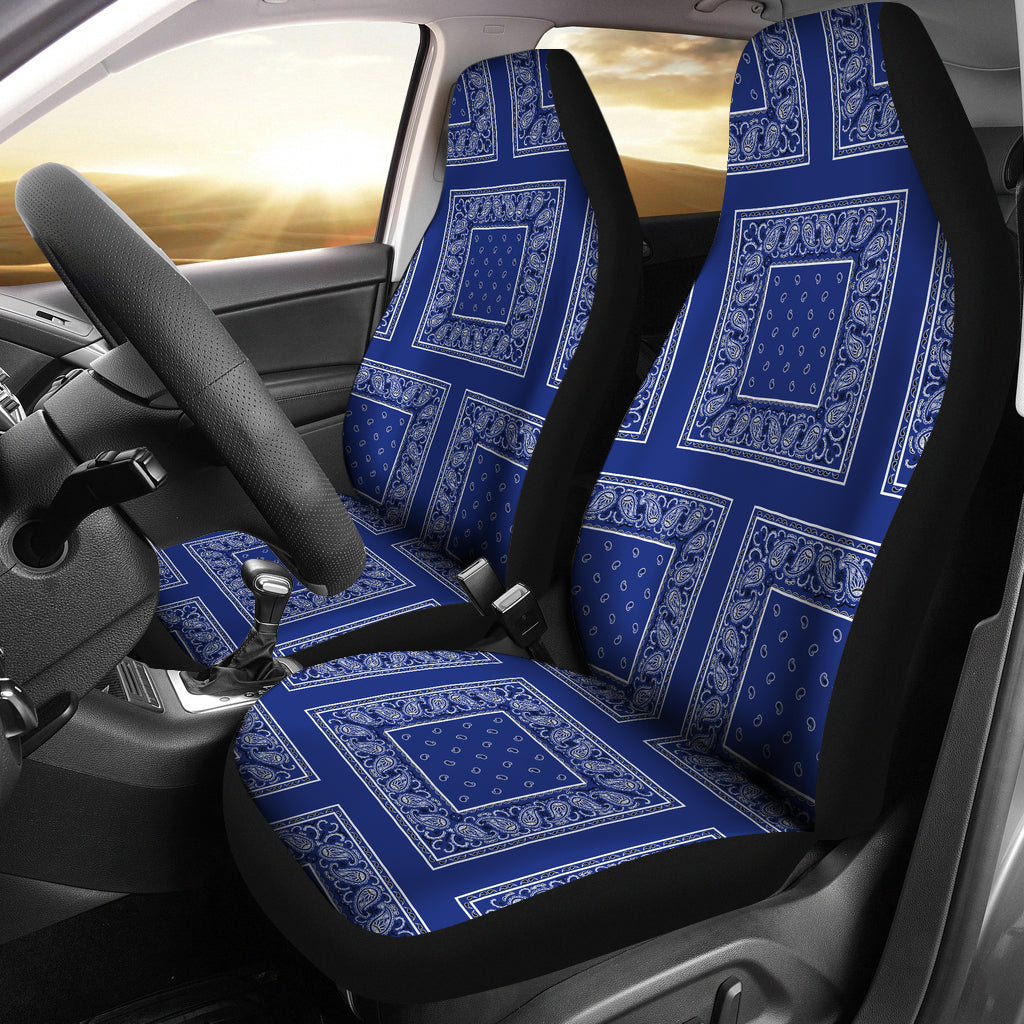 blue bandana car seat covers
