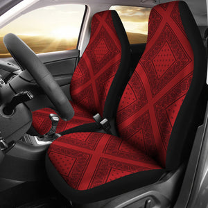 red and black bandana car seat cover