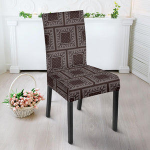 Brown Bandana Dining Chair Slipcover
