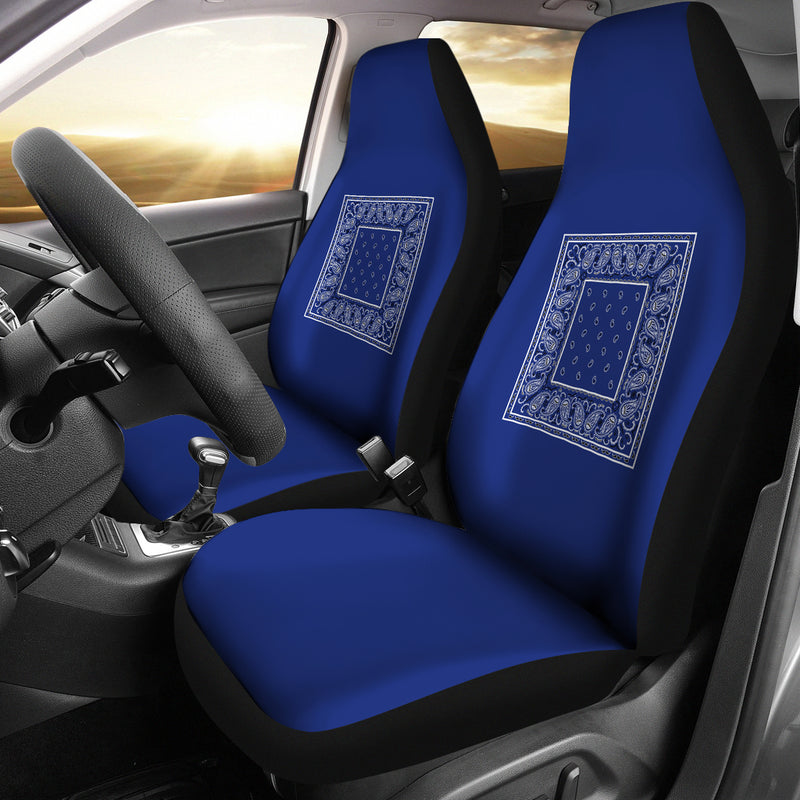 blue car show seat covers