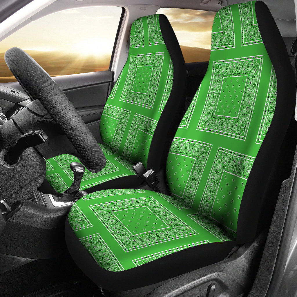 lime green seat covers