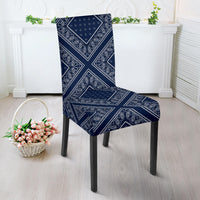 Navy Blue Bandana Dining Chair Covers