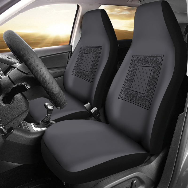 Gray and Black car seat cover