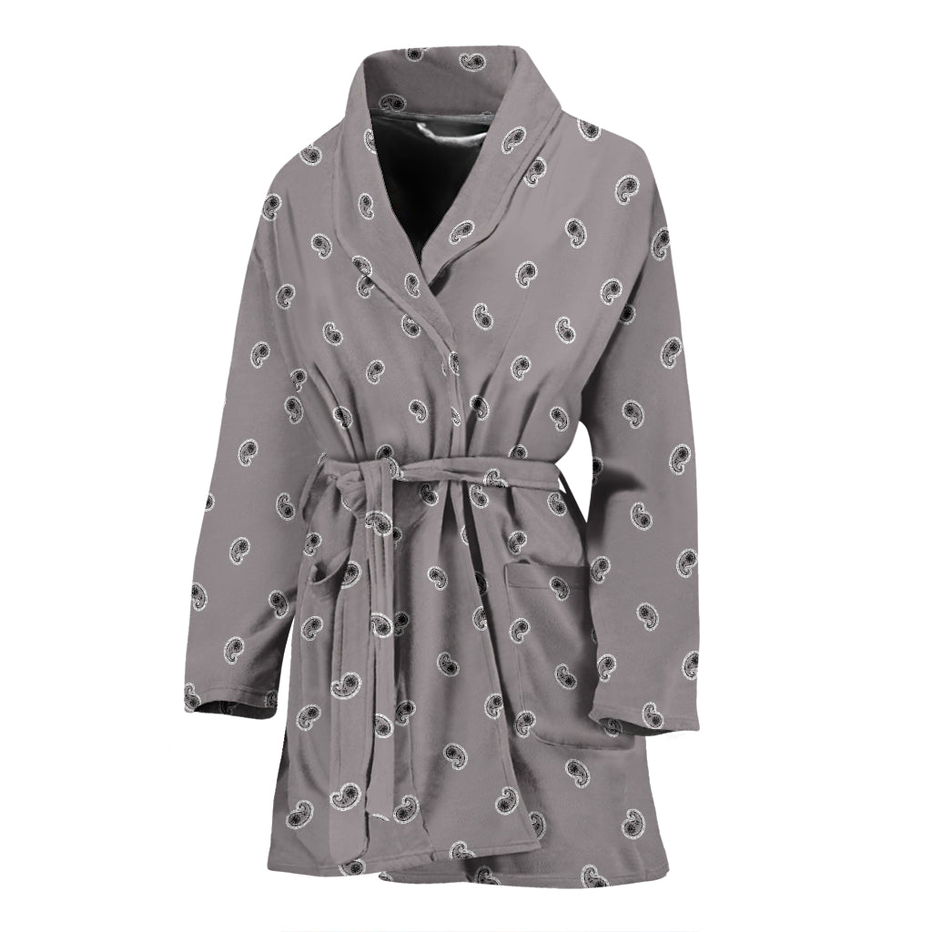 gray bathrobe for women