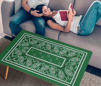 Classic Green Bandana Rectangular Coffee Tables