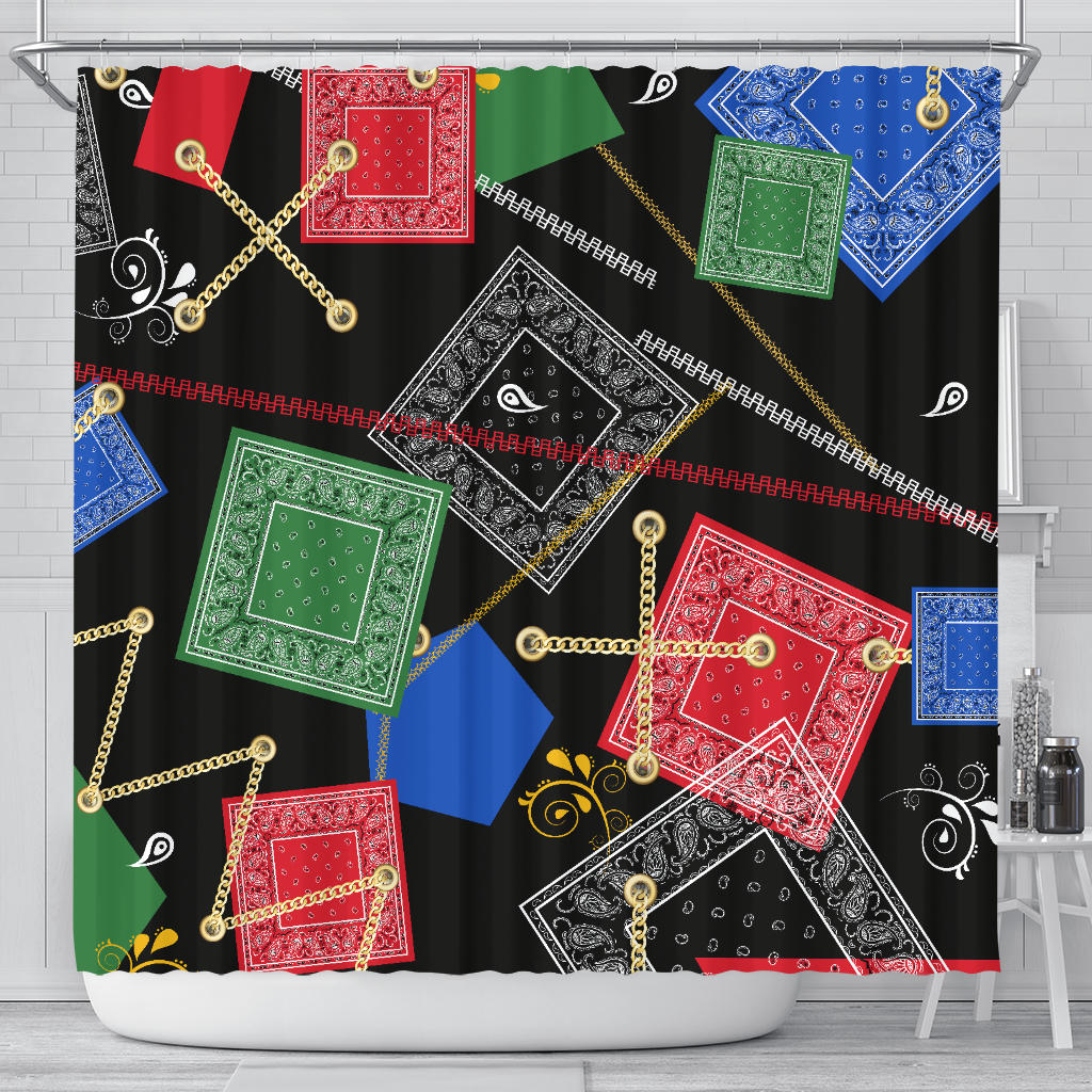 Bandana Shower Curtain