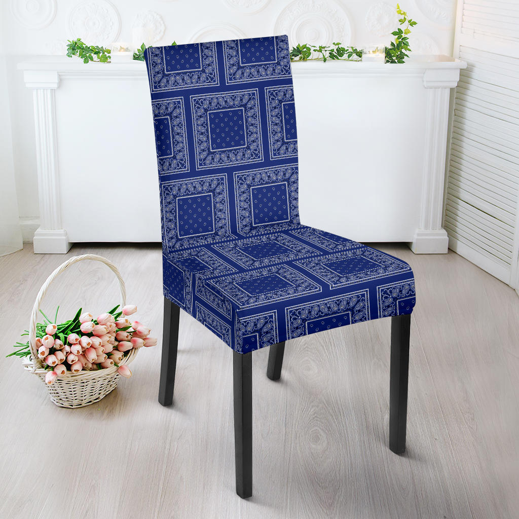 Royal Blue Bandana Dining Chair Covers