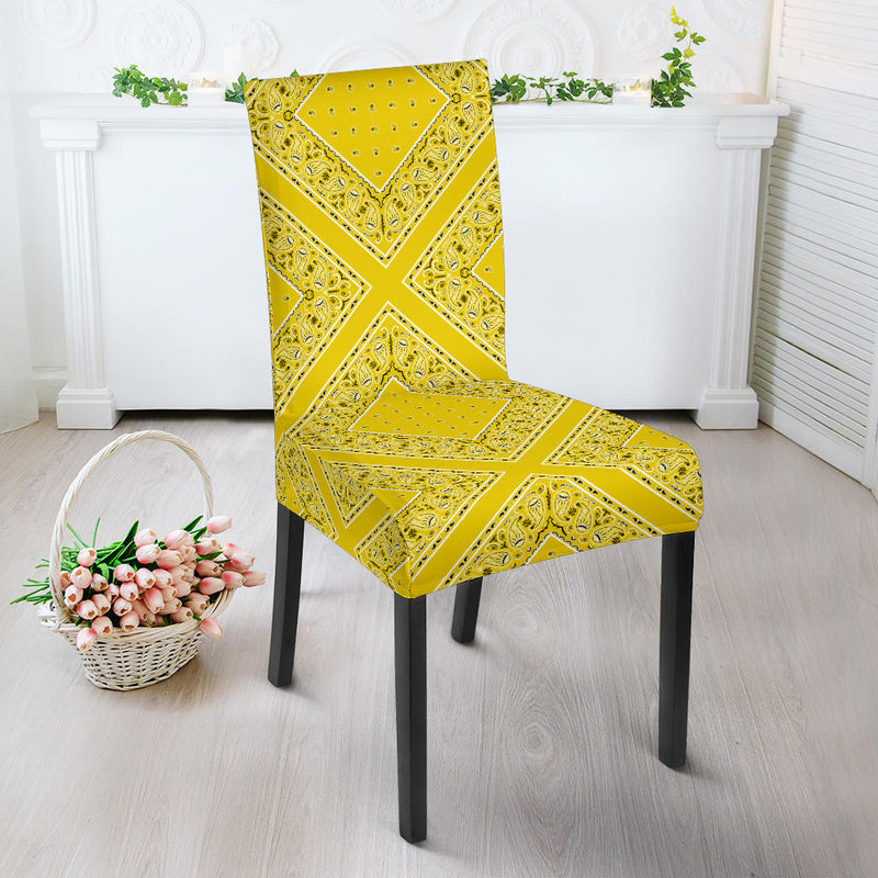 Yellow Bandana Dining Chair Covers