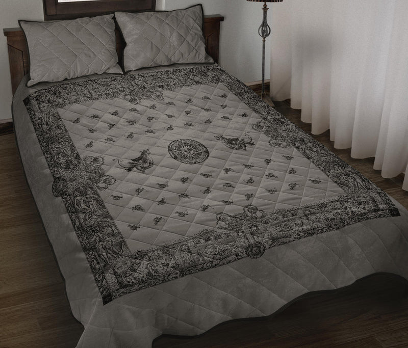 grey bandana quilt set