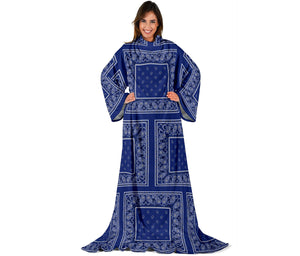 Royal Blue Bandana Monk Blankets
