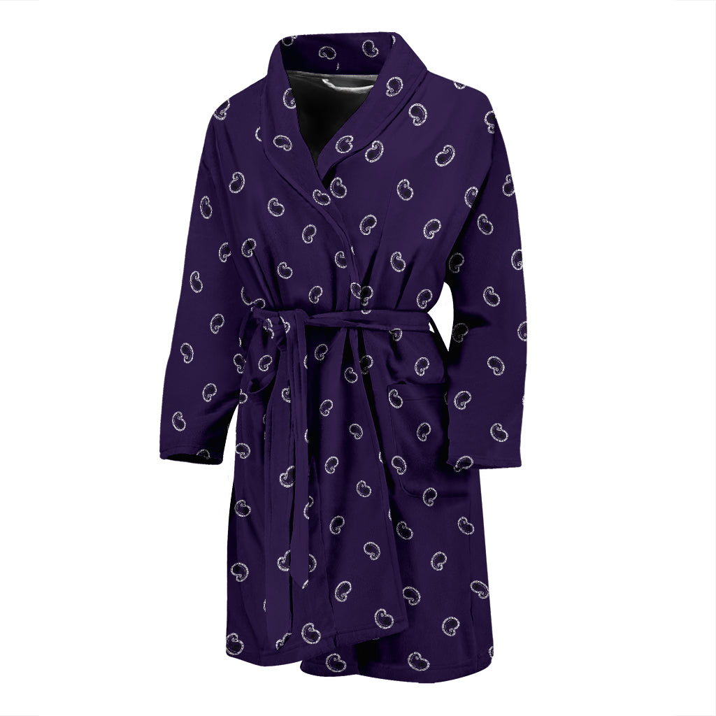 purple paisley bathrobe for men