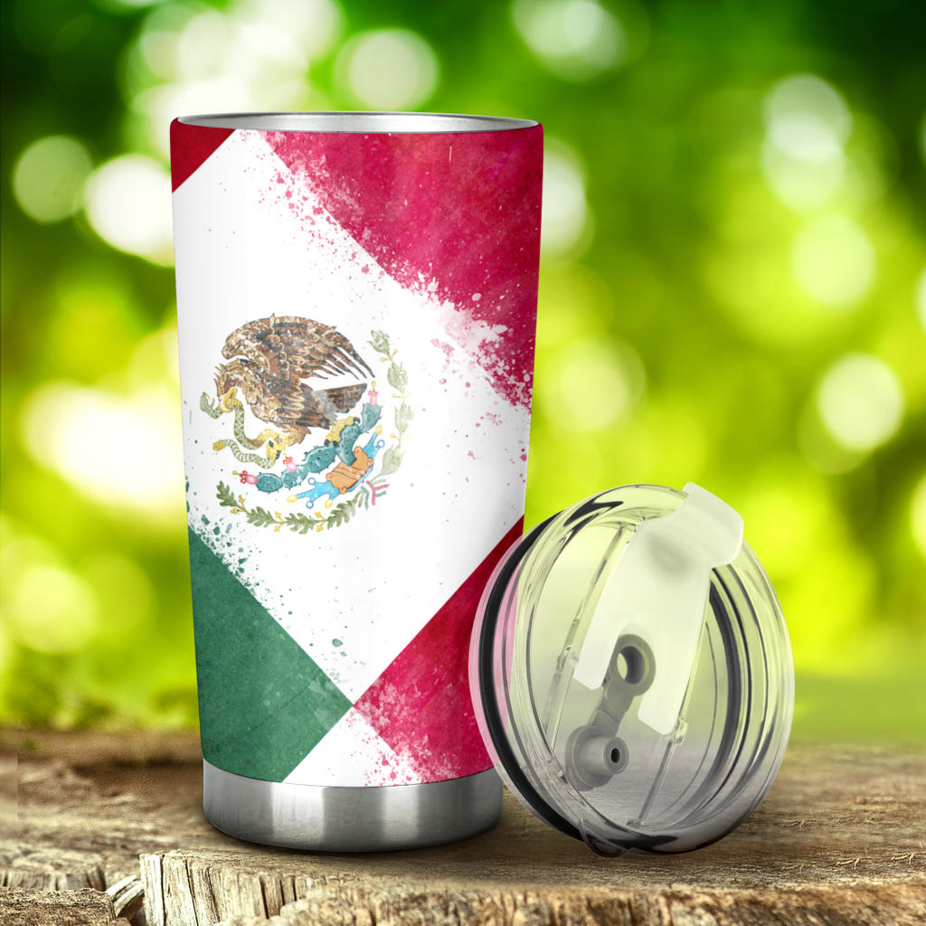 Mexican flag tumbler cups