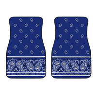 Dual Royal Blue Bandana Car Mats - Fancy