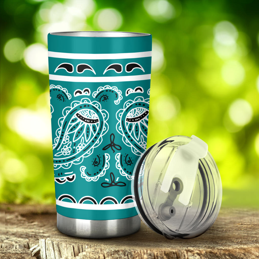 teal bandana cups