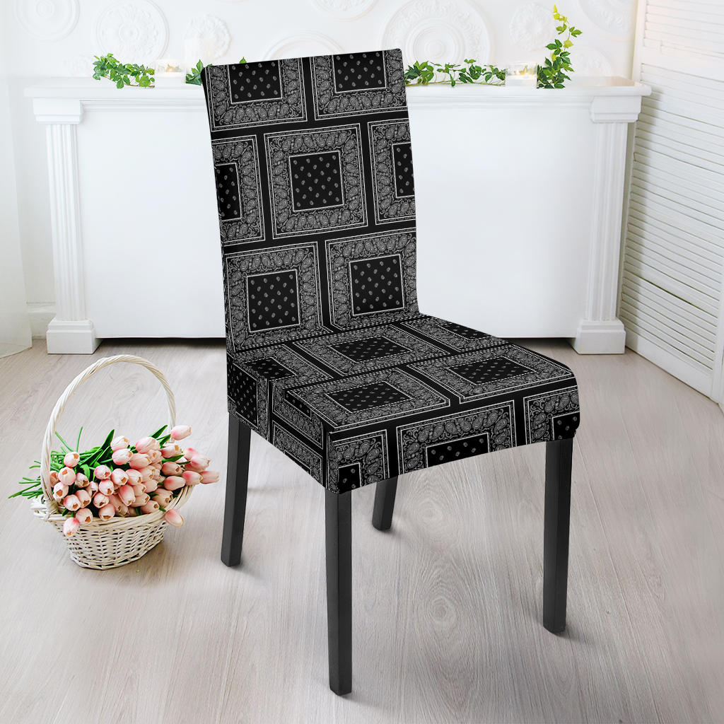 Black Bandana Dining Chair Covers