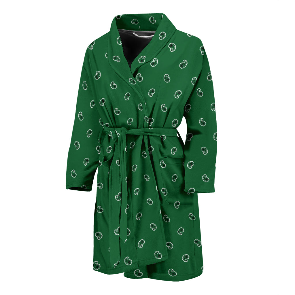 green bandana robe for men