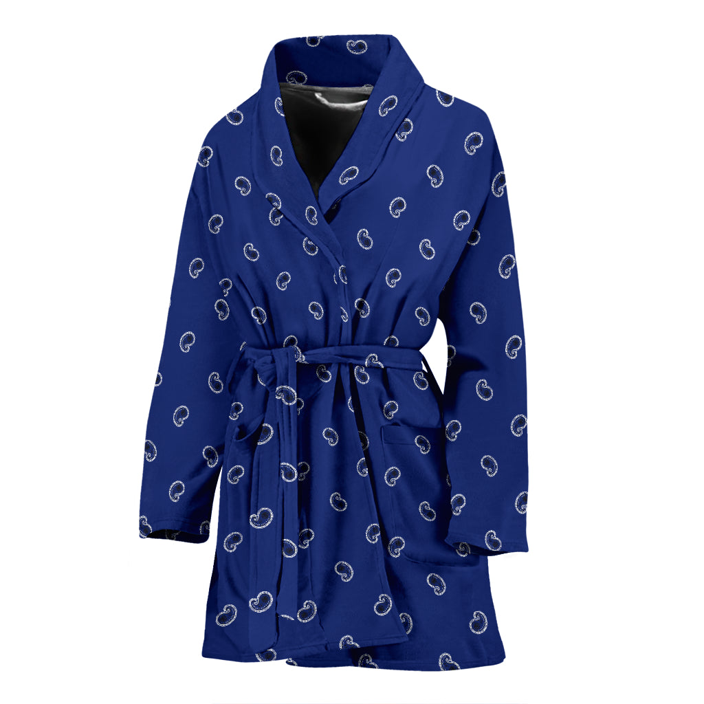 blue paisley bathrobe