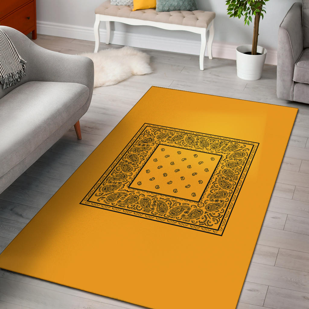 gold throw rug