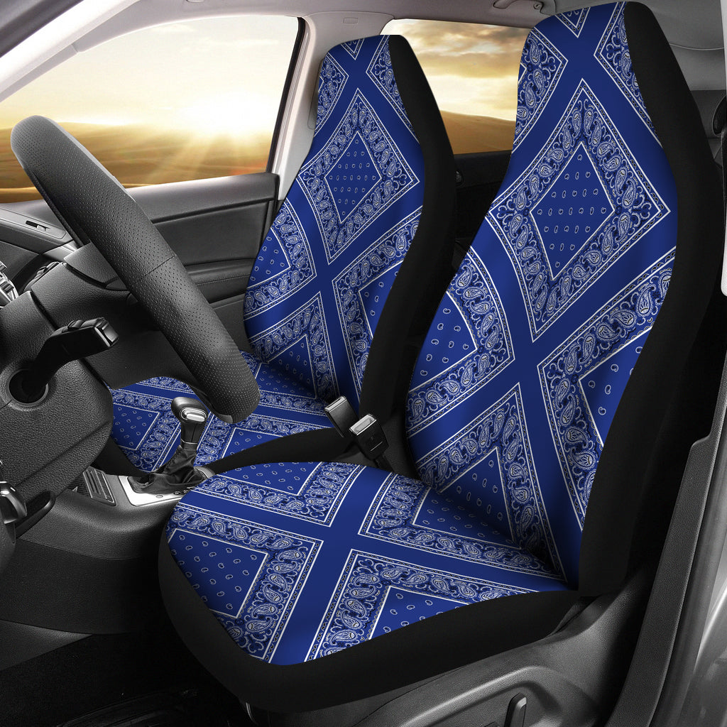 Royal blue seat covers